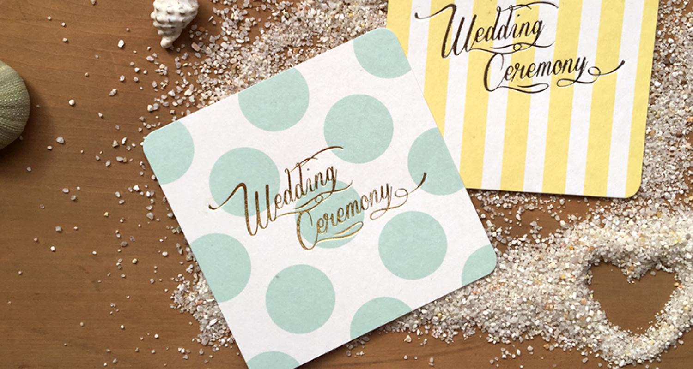 Wedding メッセージカード
